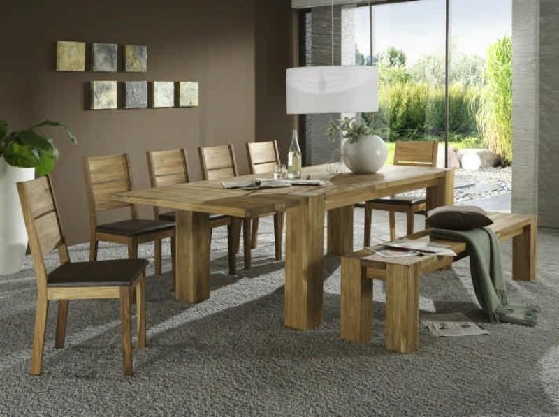esstisch 200 x 100 cm kerneiche massiv ge lt 2452. Black Bedroom Furniture Sets. Home Design Ideas