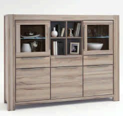 Highboard Nala wildeiche massiv Sonoma