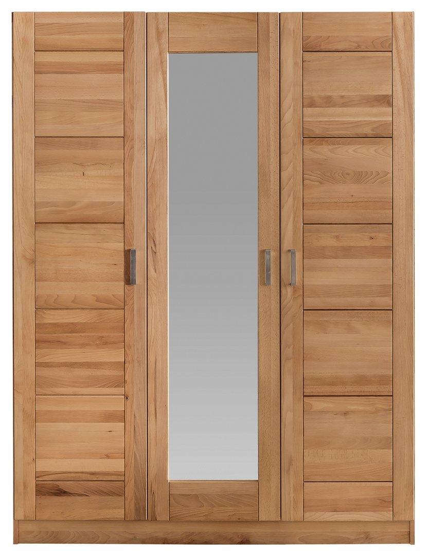 schlafzimmer sofie 3s ju180 mit bett 180 cm kleiderschrank 3 trg kernbuche massiv ge lt. Black Bedroom Furniture Sets. Home Design Ideas